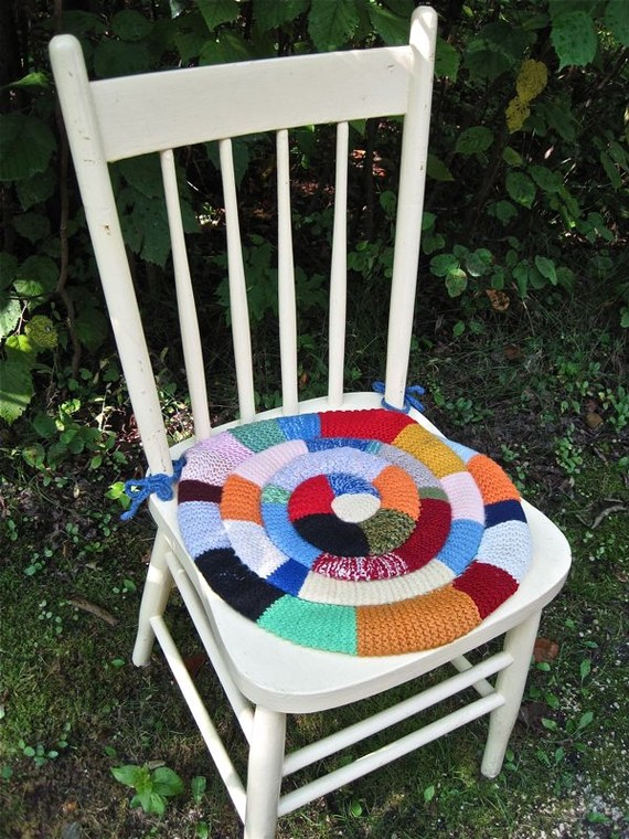 Knitting pattern for Wave Chair Pad