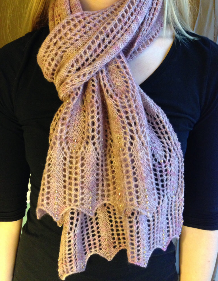 Free Knitting Pattern for Waves of Grain Scarf