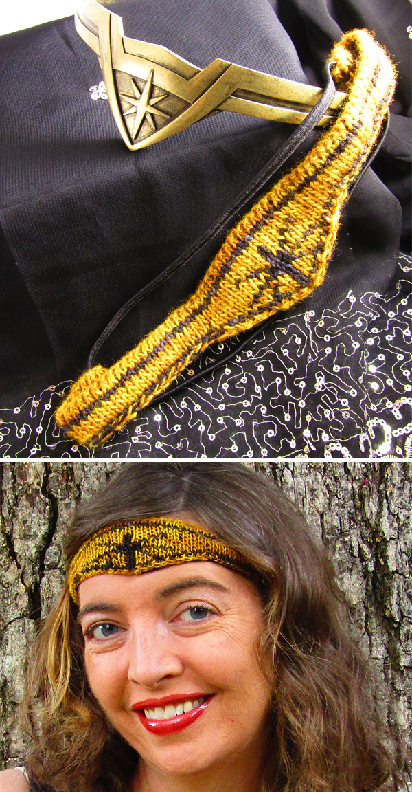 Free Knitting Pattern for We are all Wonder Women Headband