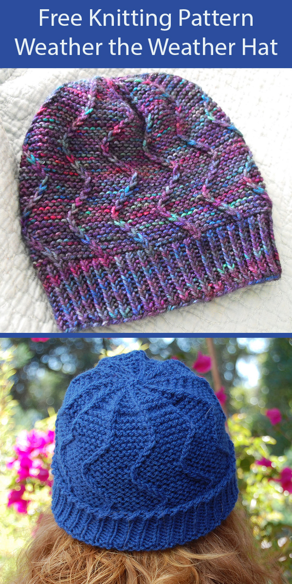 Free Knitting Pattern for Weather the Weather Hat