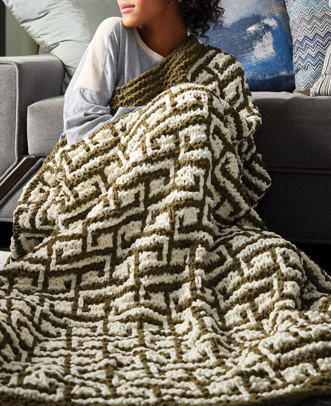 Free Knitting Pattern for Let It Slip Blanket