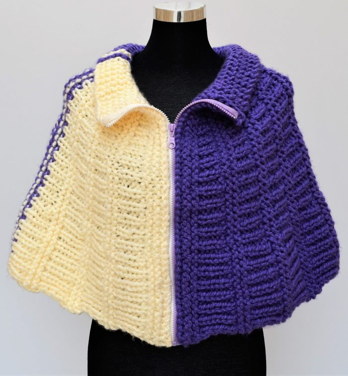 Free Knitting Pattern for Easy Wedges Cape