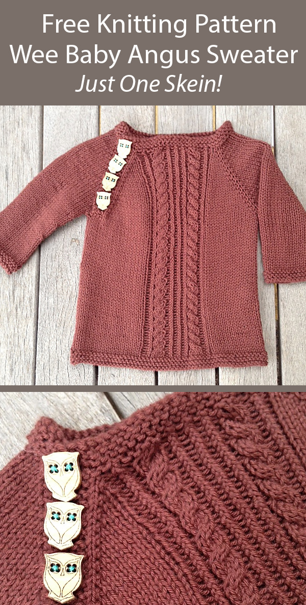 Free Knitting Pattern Wee Baby Angus Sweater