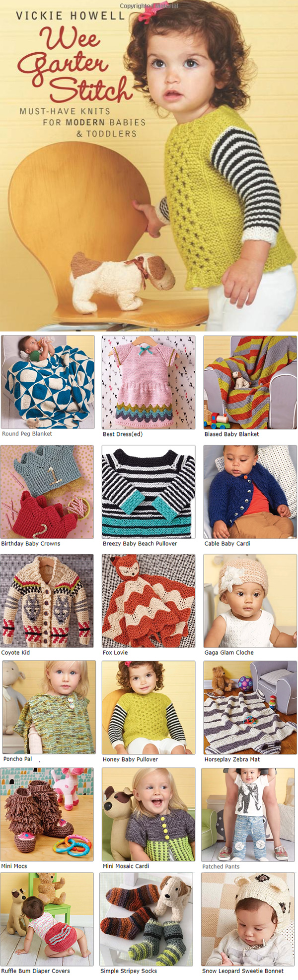 Knitting Pattern for Wee Garter Stitch: Must-Have Knits for Modern Babies & Toddlers