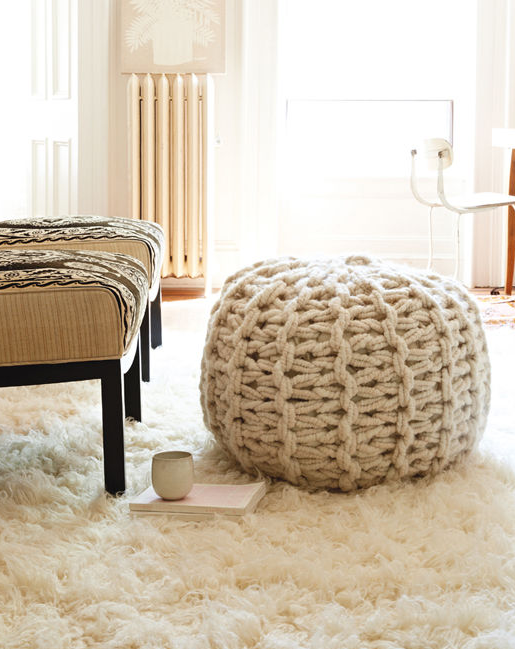 Knitting Pattern for Arm Knit Pouf