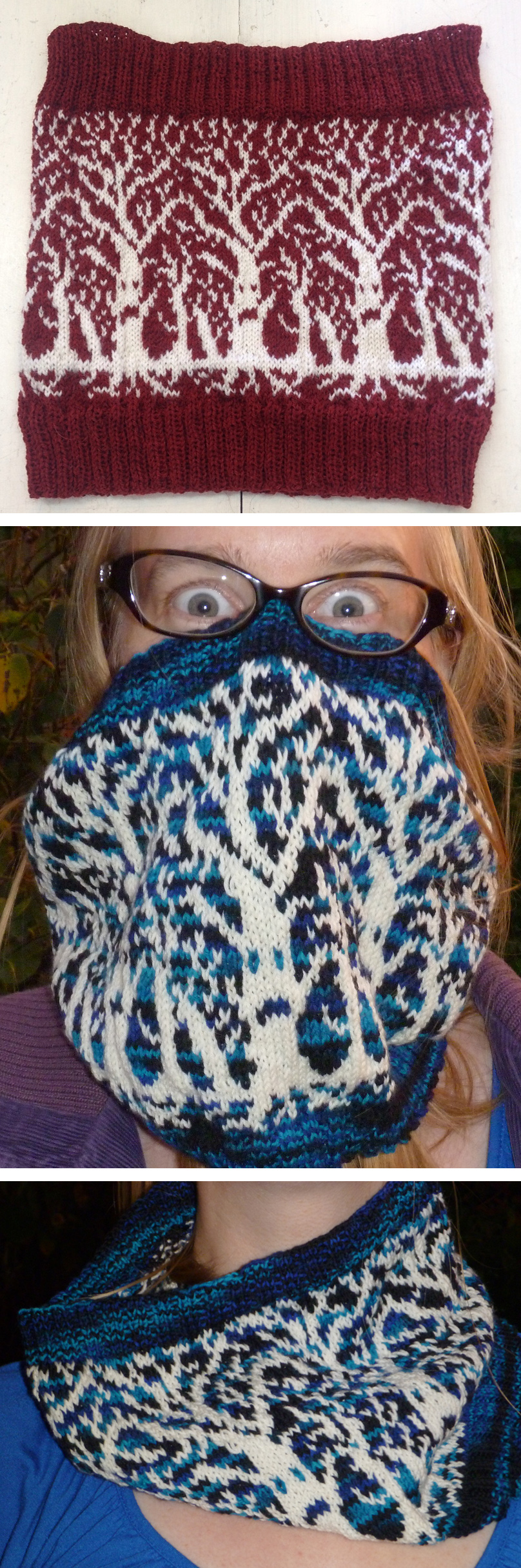 Free Knitting Pattern for Weirwood Cowl