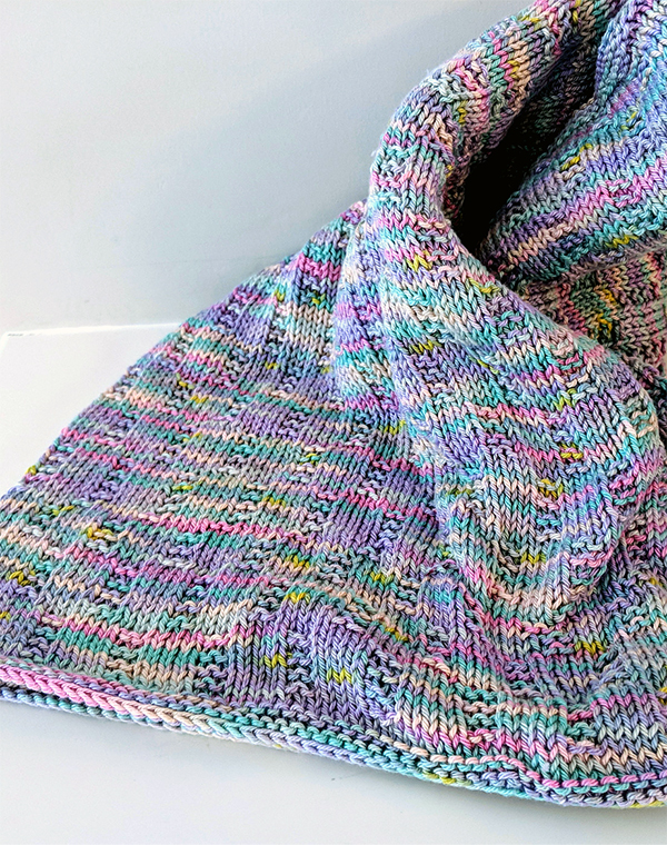 Free Knitting Pattern for Easy Welcome To The World Baby Blanket