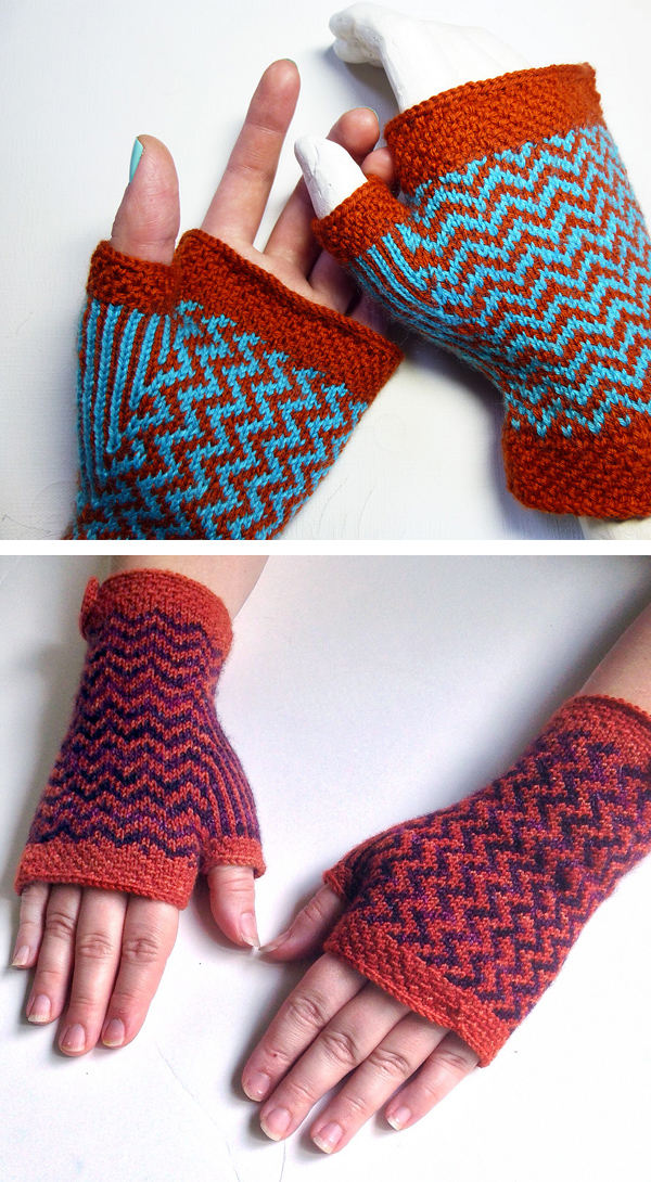 Knitting Pattern for Wellington Mitts