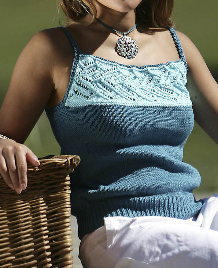 Free Knitting Pattern for Wendy Lace Camisole
