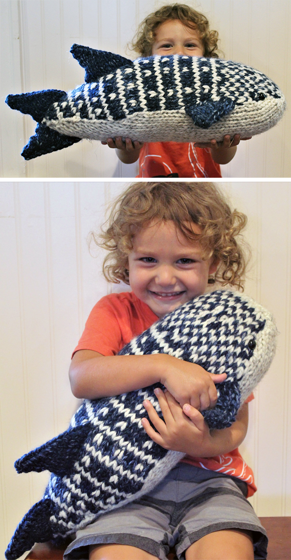 Knitting Pattern for Whale Shark Toy
