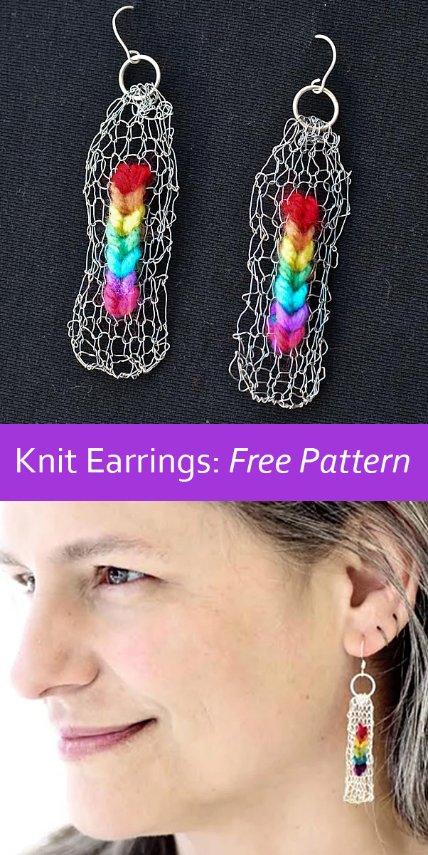 Free Knitting Pattern for What the World Needs Now Earrings