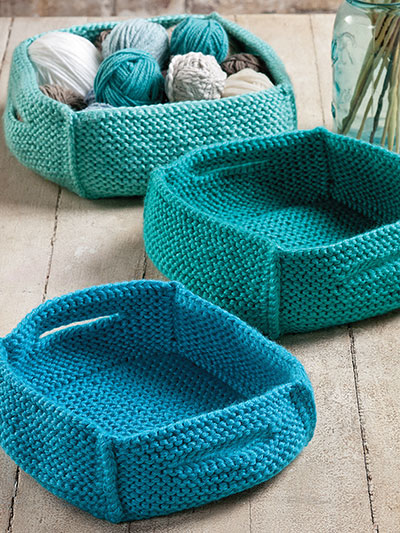 Knitting pattern for Wheatland Baskets