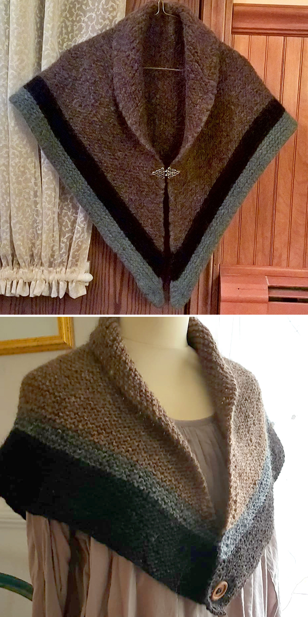 Free Knitting Pattern for Easy Outlander Inspired When In Scotland Shawl