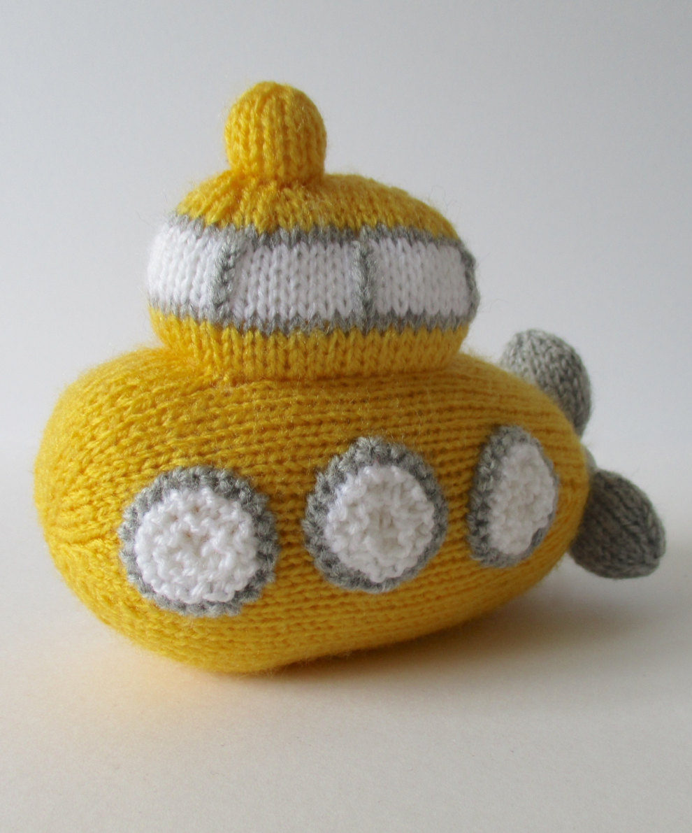 Knitting Pattern for Whirly Submarine Toy