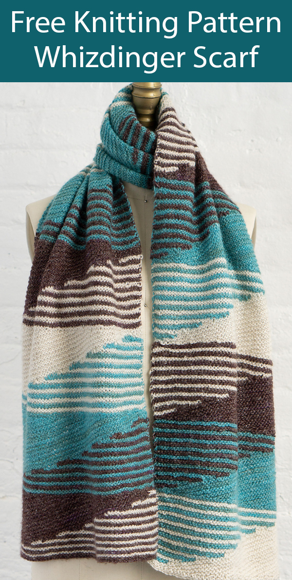 Free Knitting Pattern for Whizdinger Scarf