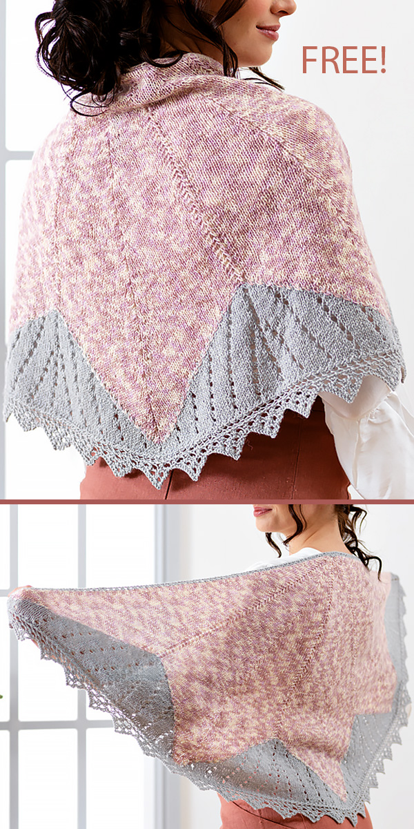 Free Knitting Pattern for Wild Bloom Lace Shawl