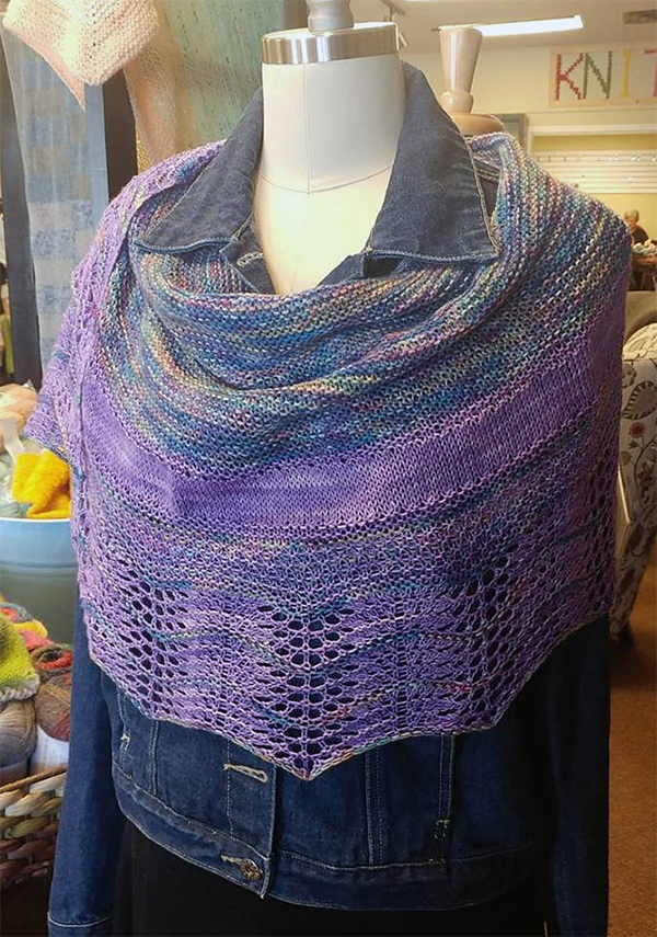 Free until March 10, 2019 Knitting Pattern for Wild Rover Shawl