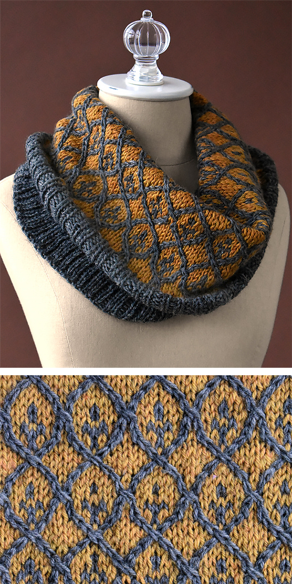 Free Knitting Pattern for Willowwork Cowl