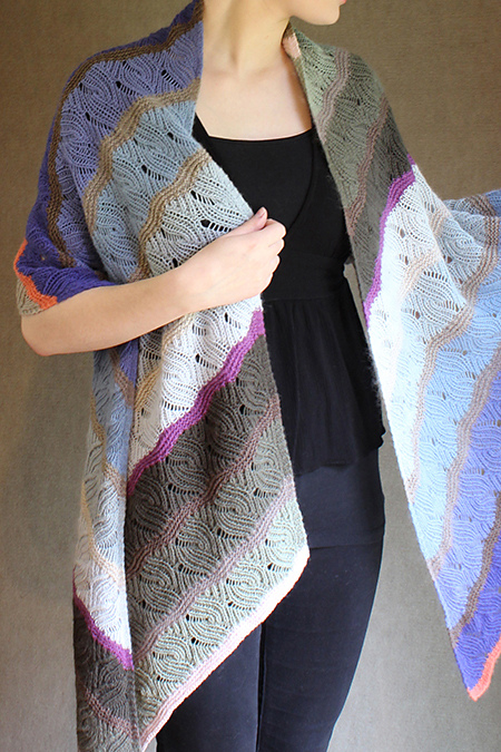 Knitting Pattern for Windfeather Shawl