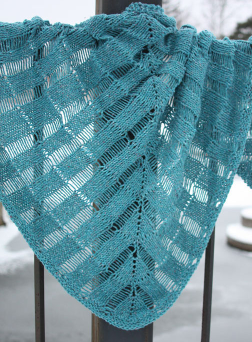 Free Knitting Pattern for Windlass Shawl