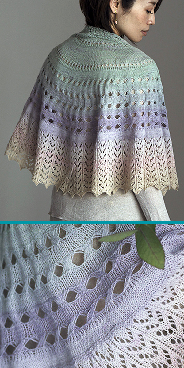 Knitting Pattern for Wings of the Dove Shawl