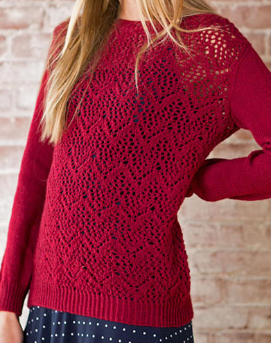 Free Knitting Pattern for Winifred Lace Pullover