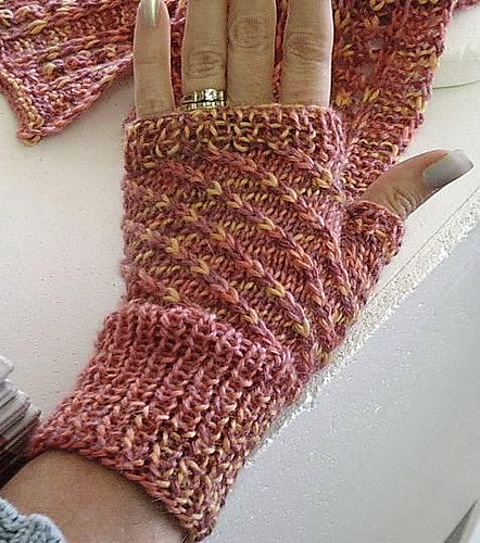 Wrist And Hand Warmer Knitting Patterns In The Loop Knitting