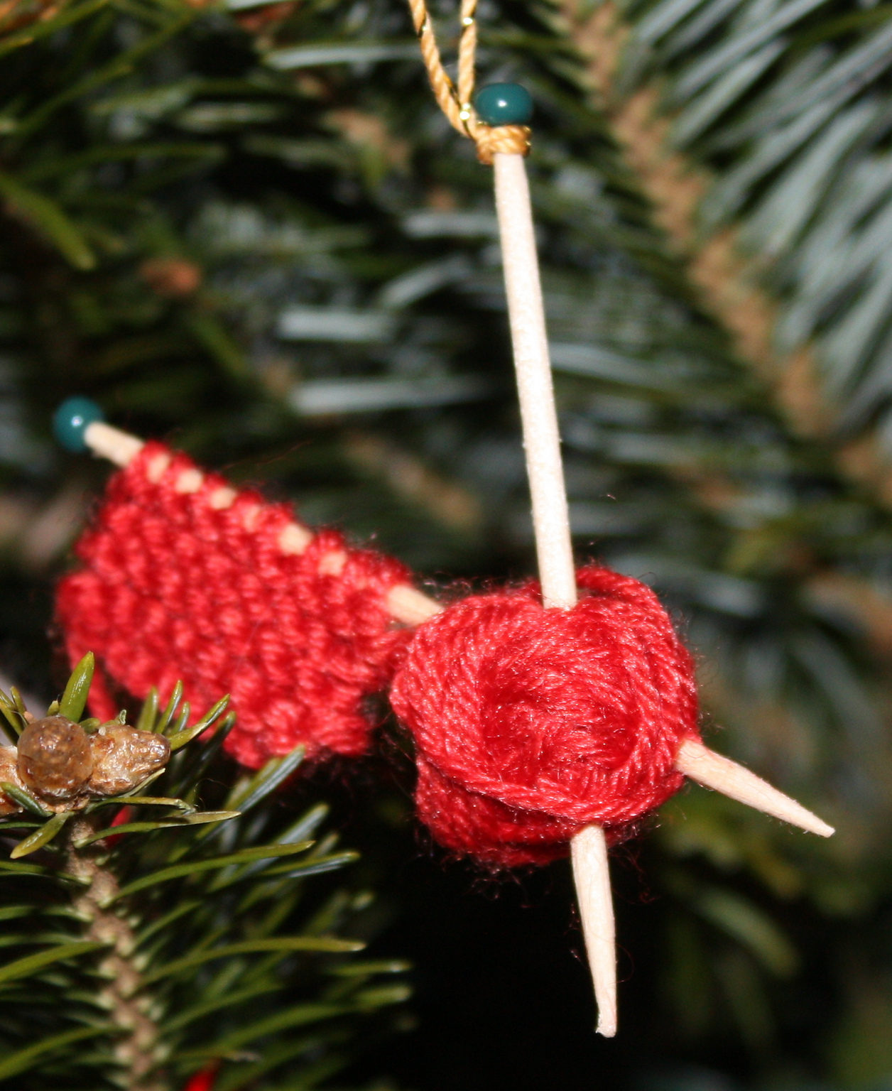 Free Knitting Pattern for WIP Ornament