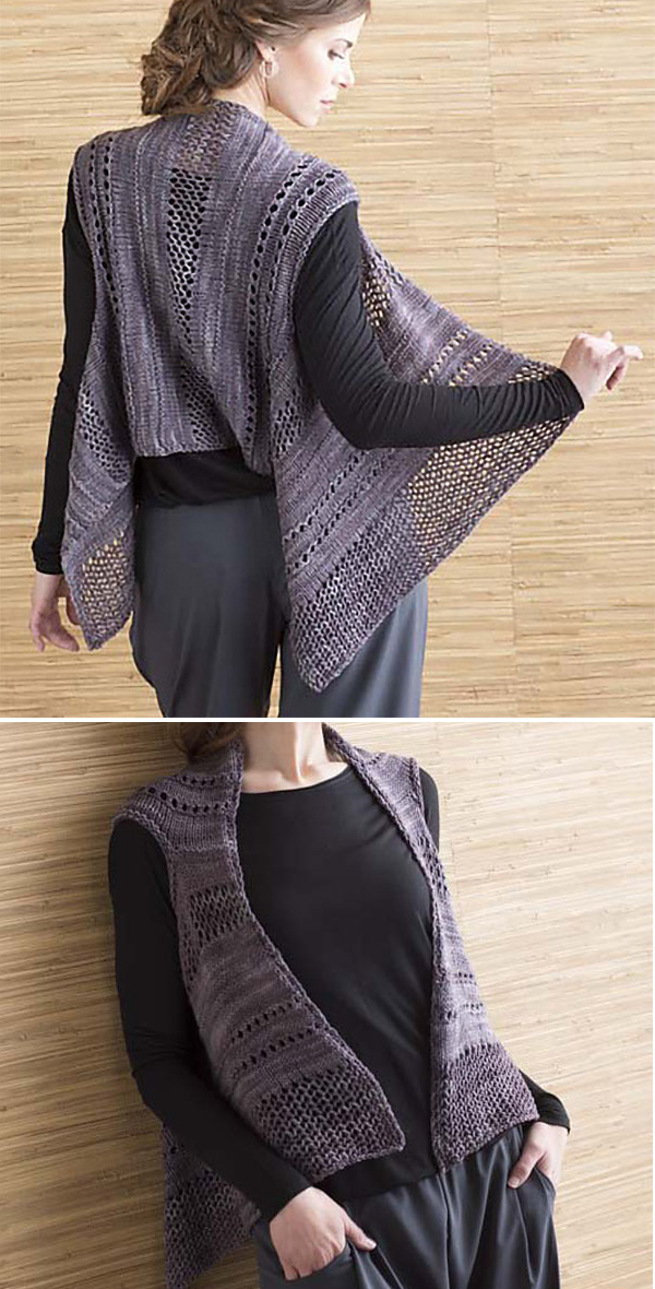 Knitting Pattern for Easy Wisteria Vest