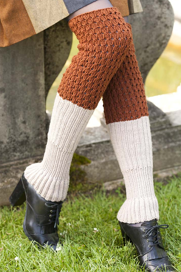 Knitting Pattern for With Bells On Legwarmers