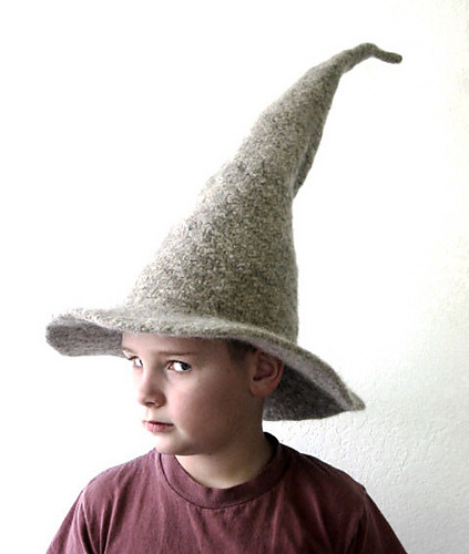 Knitting pattern for Felted Gandalf Wizard Hat and more LOTR knitting patterns