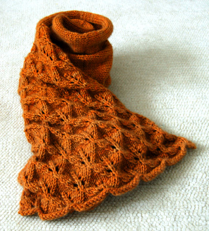 Lovely Leaf Lace Scarf Free Knitting Pattern