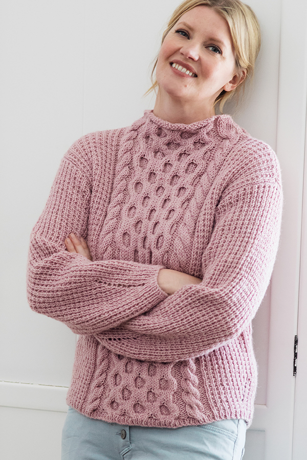 Free Knitting Pattern for Honeycomb Cabled Sweater