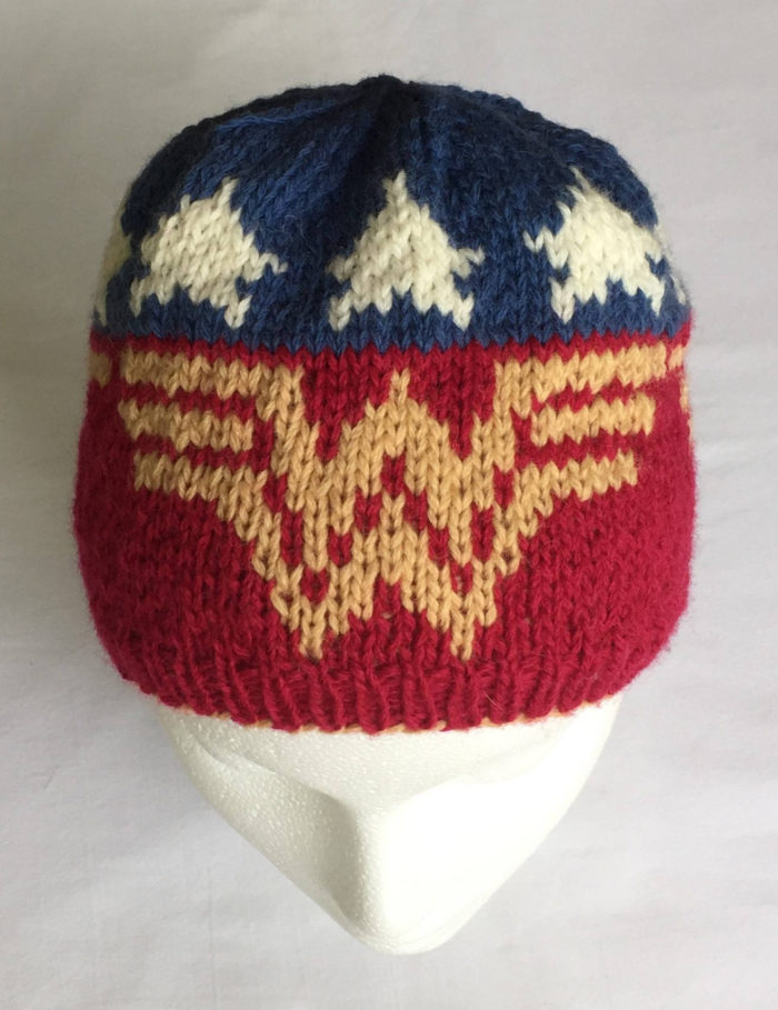 Knitting Pattern for Wonder Woman Hat