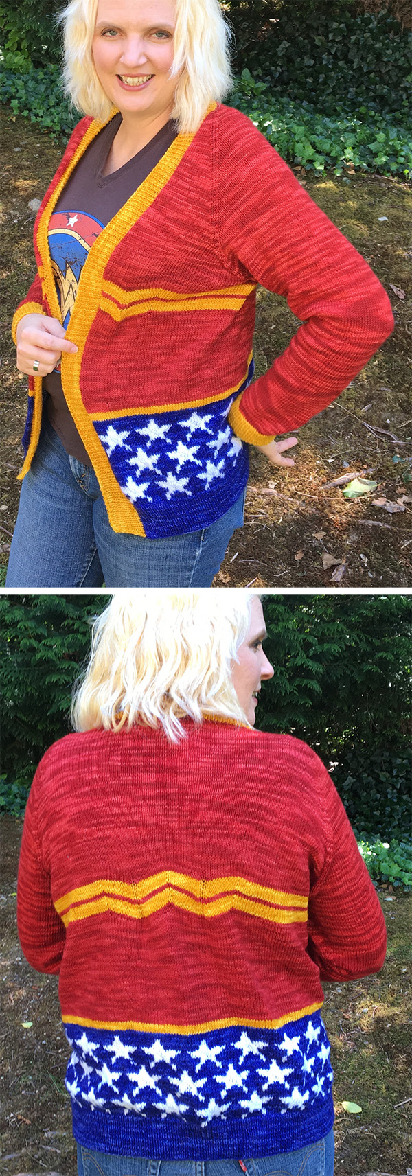 Knitting Patterns for Wonder Woman Sweater