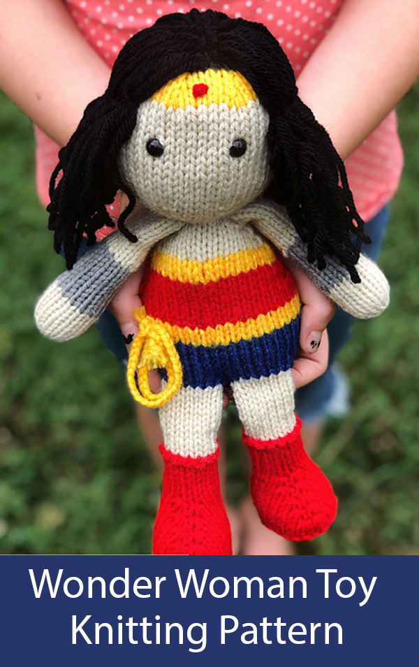 Knitting Patterns for Wonder Woman Doll