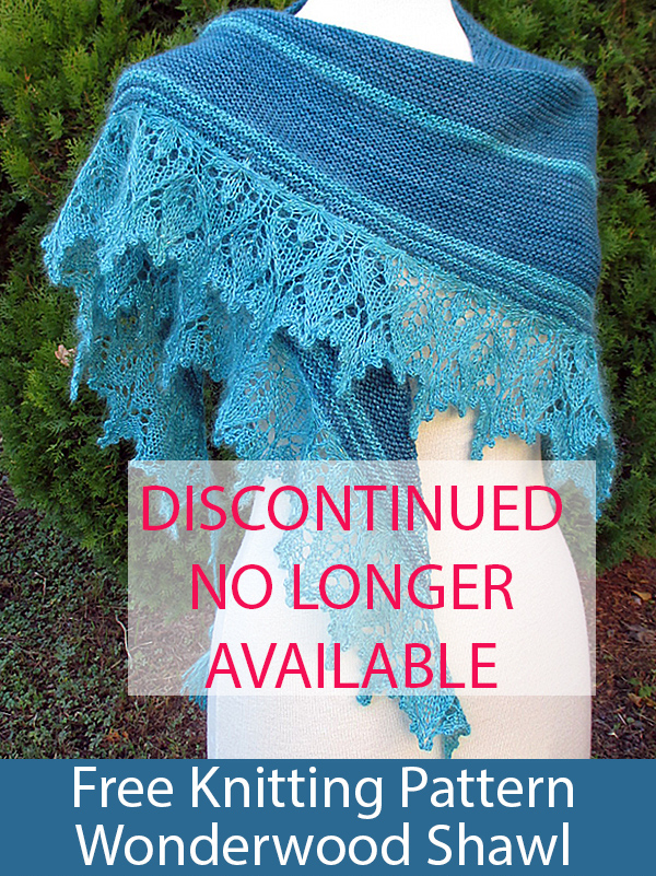 Free Knitting Pattern for WonderWood Shawl