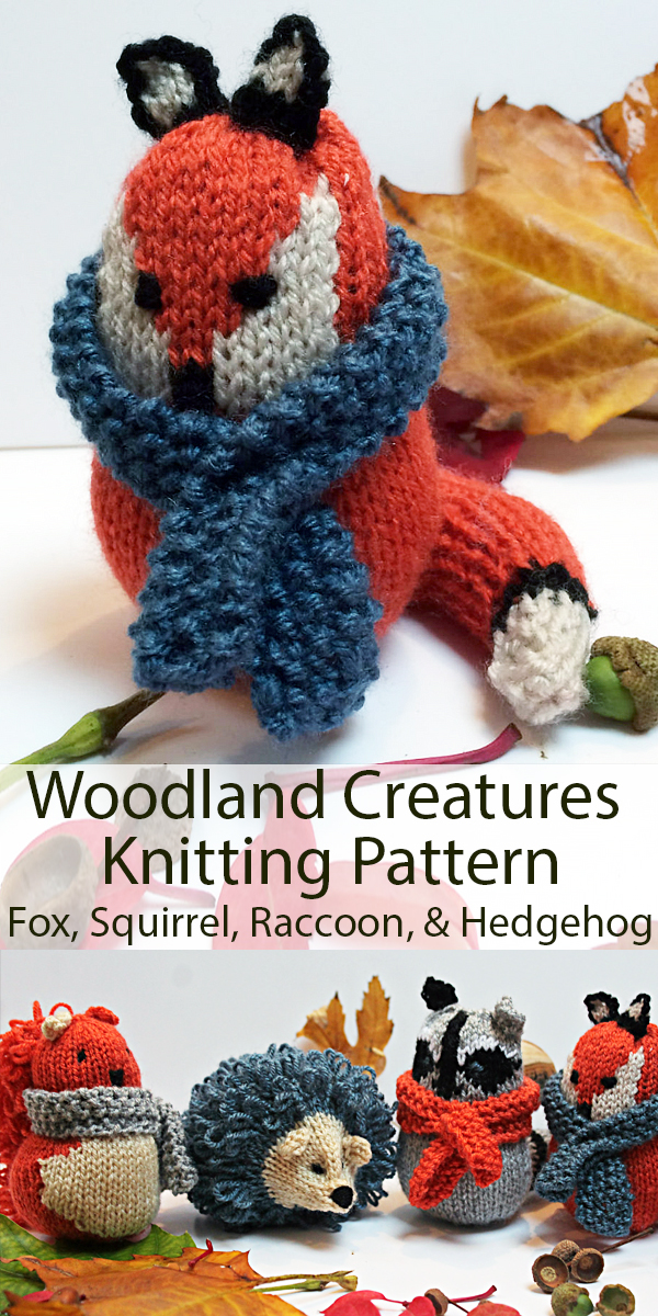 Knitting Pattern for Woodland Creatures Toys