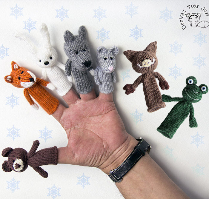 Knitting Pattern for Woodland Animals Finger Puppets