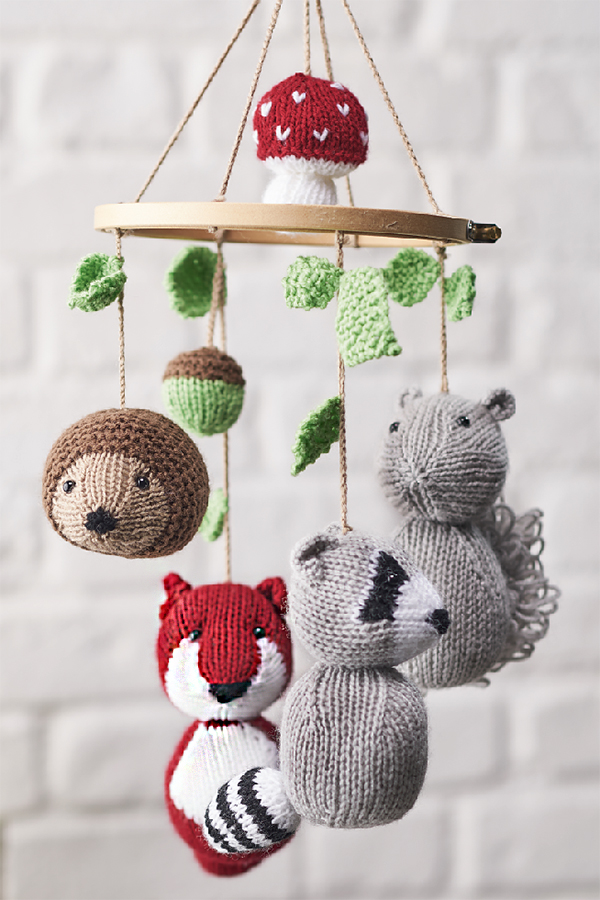Free knitting pattern for Woodland Tales Animal Mobile by Amanda Berry 9e9237ebc5a