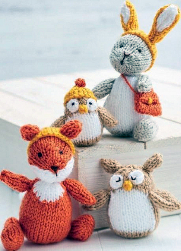 Free Knitting Pattern for Woodland Toys