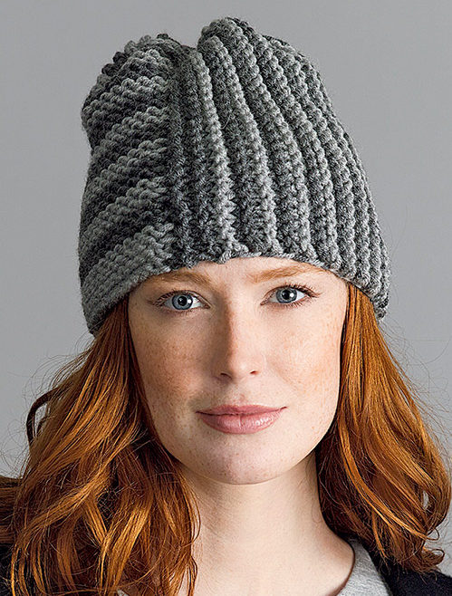 Free Knitting Pattern for Beginner Two Square Hat