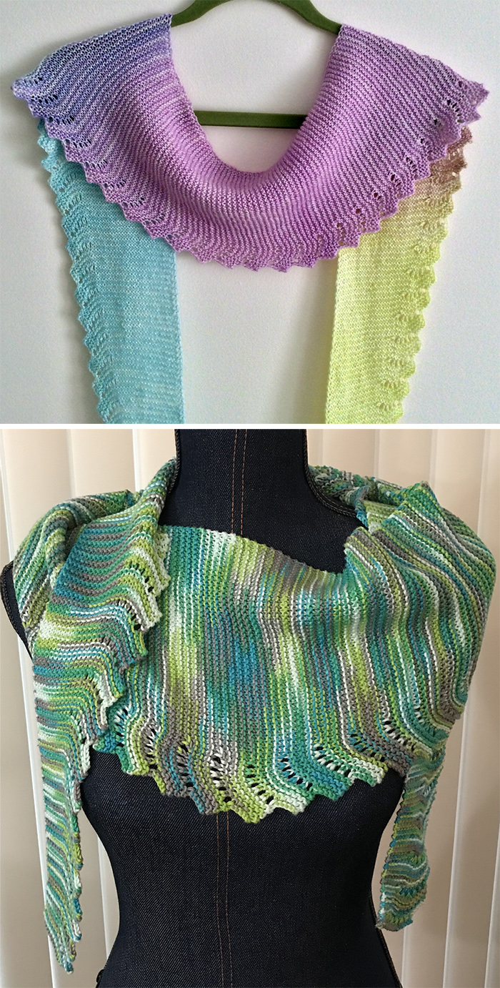 Free Knitting Pattern for Easy Workday Scarf