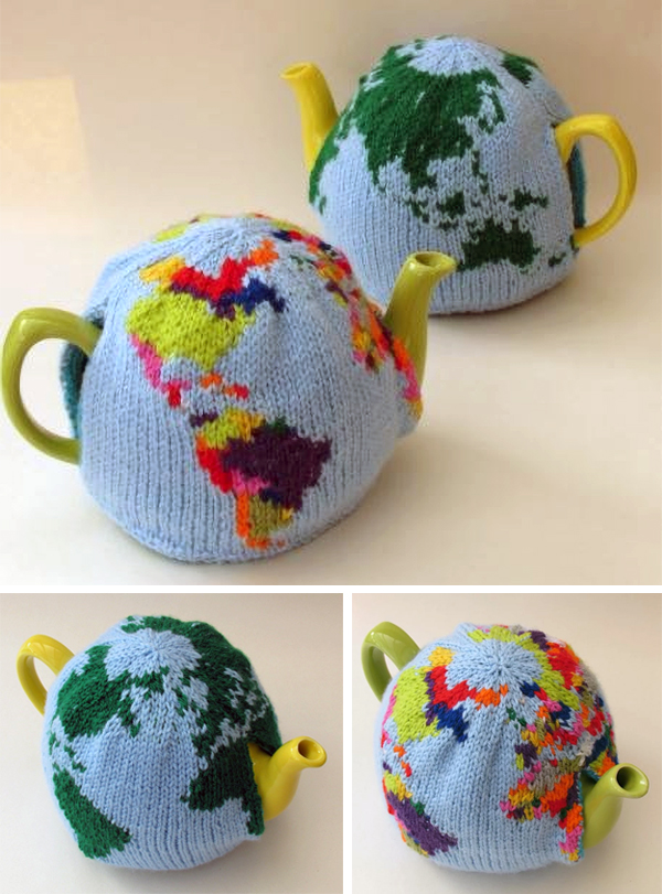 Knitting Pattern for World Tea Cosy