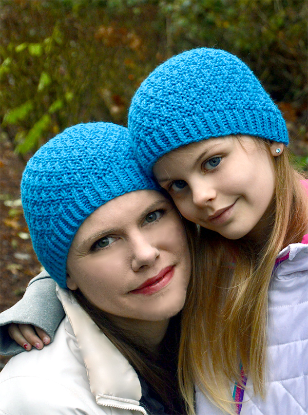 Knitting Pattern for One Skein Woven Together Hat