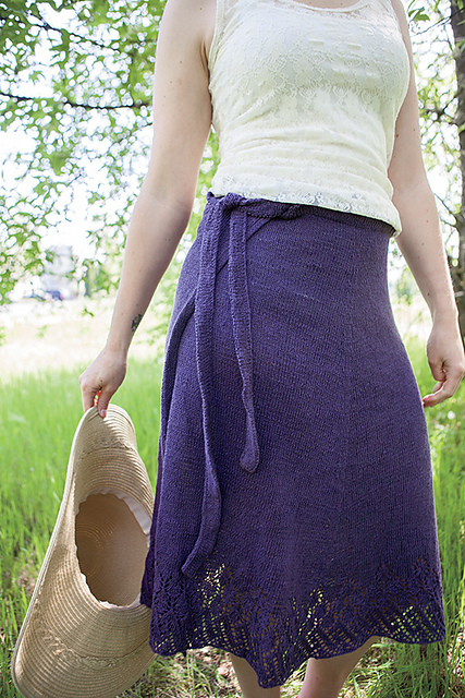 Free knitting pattern for Wrap Around Skirt