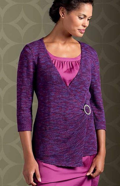 Knitting pattern for Wrap Blouse Cardigan