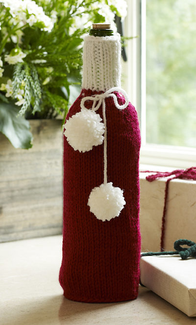 Free Knitting Pattern for Wrap Your Bottle Cozy
