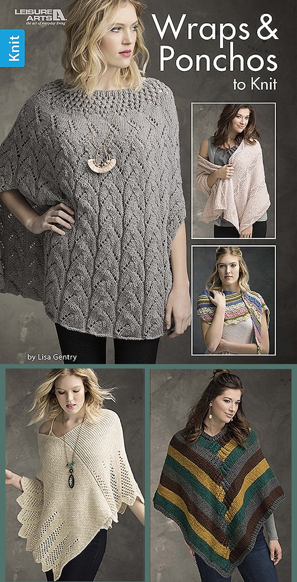 Wraps and Ponchos To Knit