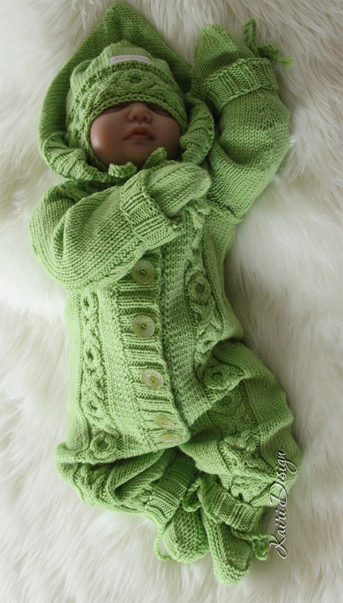 Knitting Pattern for Hugs and Kisses Baby Onesie
